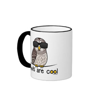 Owls are cool coffee mugs