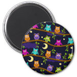 owls by night refrigerator magnets