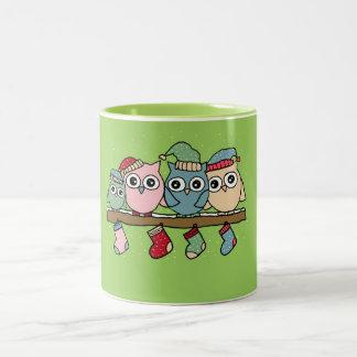 Owls Christmas Coffee Mugs