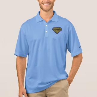 Owls GSA Superhero Logo Blue and Yellow Polo Shirt