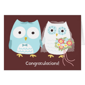 Owls Happily Ever After, Wedding Congratulations Card
