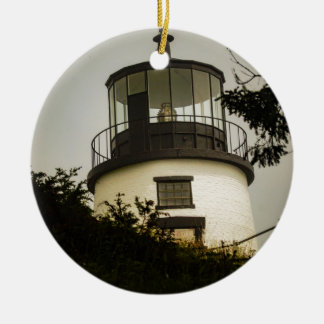 Owls Head Lighthouse Ceramic Ornament