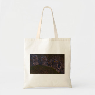 Owls in an Oak Hollow Tote Bag