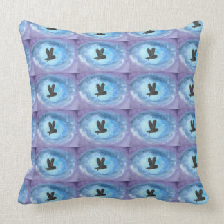Owls In Flight 20 inch Cotton Pillow