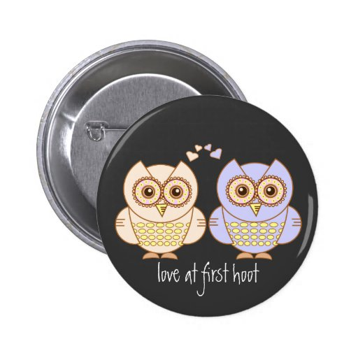 Owls in Love Pinback Buttons