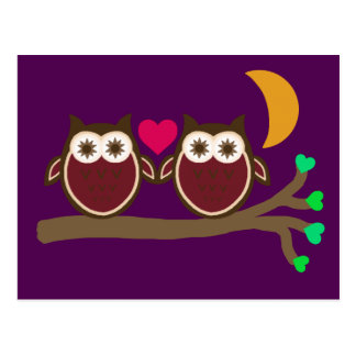 Owls in Love Postcard