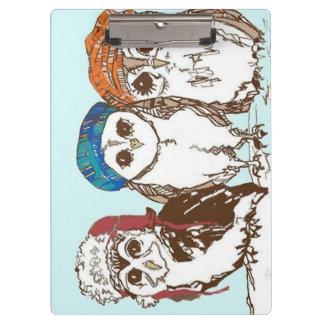 Owls in the Hood Clipboard