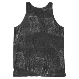 Owls in the Oaks All-Over Print Singlet