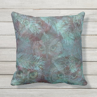 OWLS IN THE WOODS by SLipperywindow Outdoor Cushion
