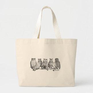Owls Large Tote Bag
