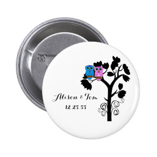 Owls - Love Bird Wedding Themed Favors 6 Cm Round Badge