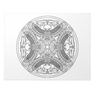 Owls Mandala Coloring Book Pad