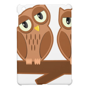 Owls on a Branch iPad Mini Cover