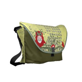 owls on branch rickshaw bag commuter bag