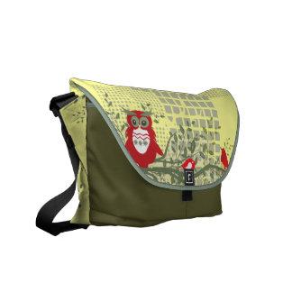owls on branch rickshaw bag messenger bag