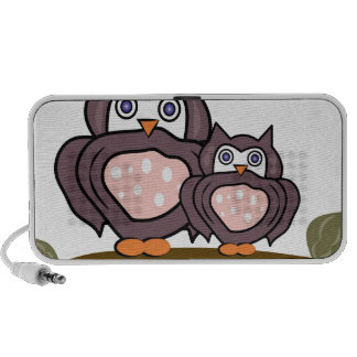 Owls On Branch Notebook Speakers