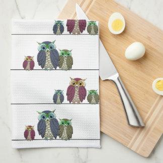 Owls on Wire Kitchen Towel