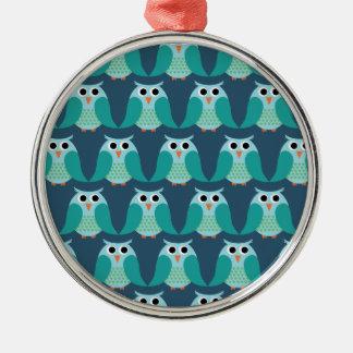 Owls, Owls, Owls! - Blue Christmas Tree Ornaments