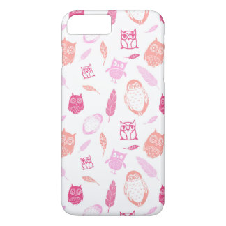 Owls Pink Feathers iPhone 7 Plus Case