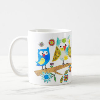 Owls Sitting On A Branch ~ Coffee/Tea Mug Cup