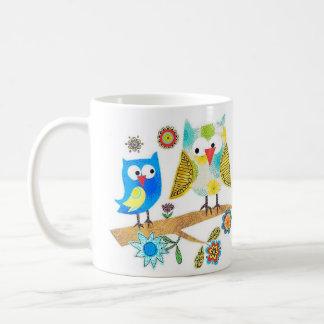Owls Sitting On A Branch ~ Coffee/Tea Mug Cup