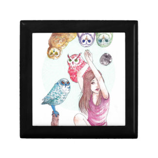Owls Small Square Gift Box