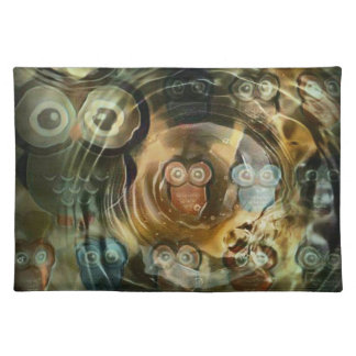 Owls Under Water Placemat