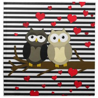 Owls - Valentines day design Napkin