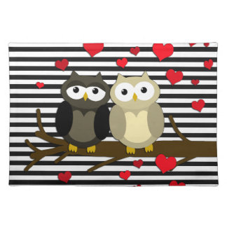 Owls - Valentines day design Placemat