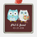 Owls Wedding Couple - Adorable Bride and Groom Ornament