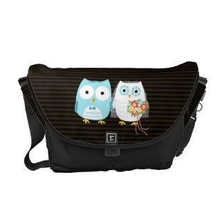 Owls Wedding Couple - Fun Bride and Groom Design Commuter Bags