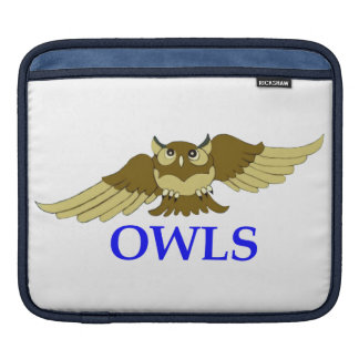 OWLS white i-pad sleeve