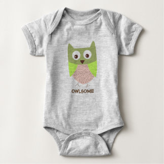 OWLSOME - AWESOME baby outfit Baby Bodysuit