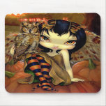 """Owlyn in Autumn"" Mousepad"