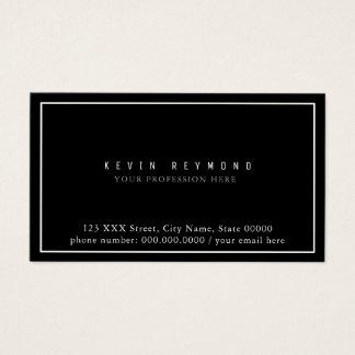 own simple & minimalist basic black professional business card