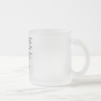 Own The Moment Referee Frosted Glass Frosted Glass Coffee Mug