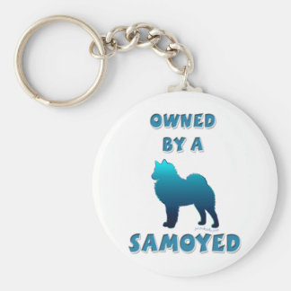 Owned by a Samoyed Key Ring