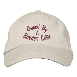 Owned By Border Collie Cute Embroidered Hat