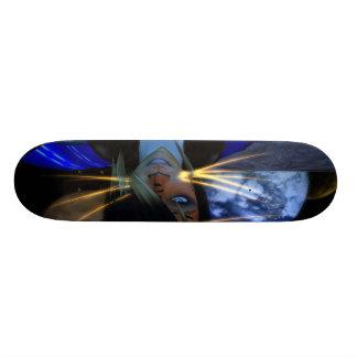 Owner of Allley Gotter Graphics Big Custom Skate Board