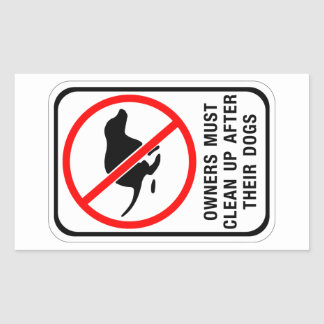 Owners Must Clean Up, Sign, Australia Rectangular Sticker