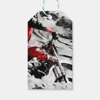 Owning The Mountain  -  Motocross Dirt-Bike Racer Gift Tags