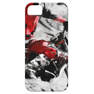 Owning The Mountain  -  Motocross Dirt-Bike Racer iPhone 5 Cover