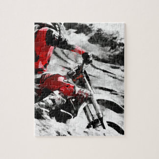 Owning The Mountain  -  Motocross Dirt-Bike Racer Jigsaw Puzzle