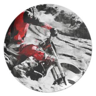 Owning The Mountain  -  Motocross Dirt-Bike Racer Plate