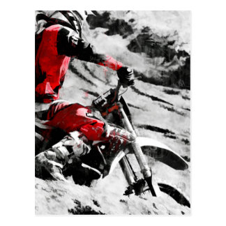 Owning The Mountain  -  Motocross Dirt-Bike Racer Postcard