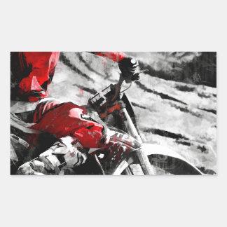 Owning The Mountain  -  Motocross Dirt-Bike Racer Rectangular Sticker