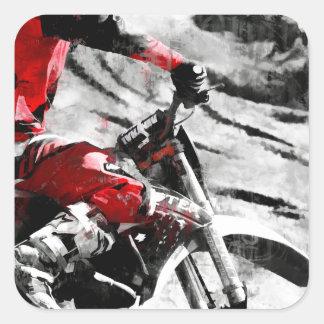 Owning The Mountain  -  Motocross Dirt-Bike Racer Square Sticker