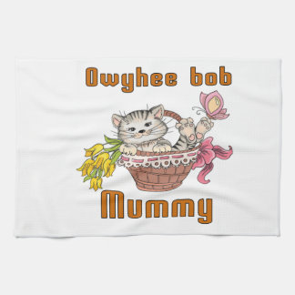 Owyhee bob Cat Mom Tea Towel