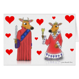 Ox King and Queen of Hearts Valentine Card