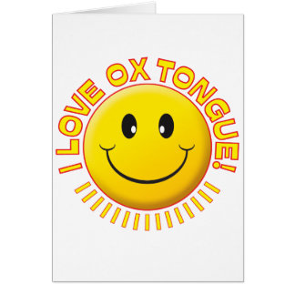 Ox Tongue Smile Card